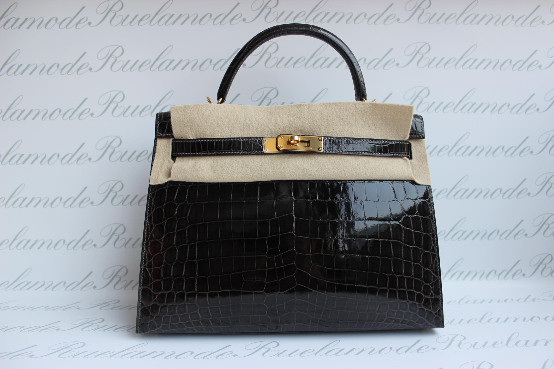 Brand New Hermes Kelly 32 Gris Fonce Alligator with GHW S$68,000 ...