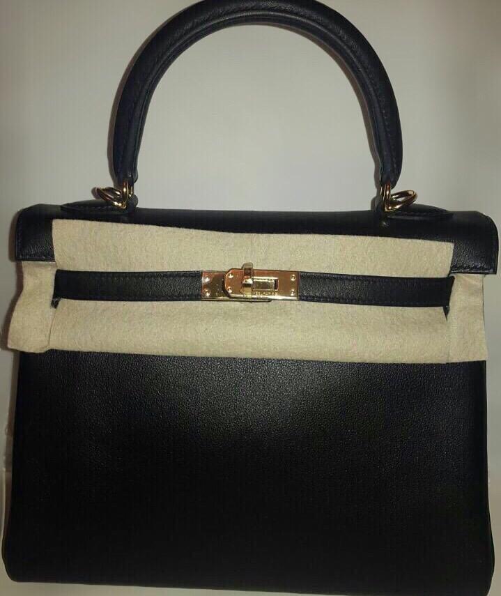 Brand New Kelly 25 Black Swift GHW | Ruelamode