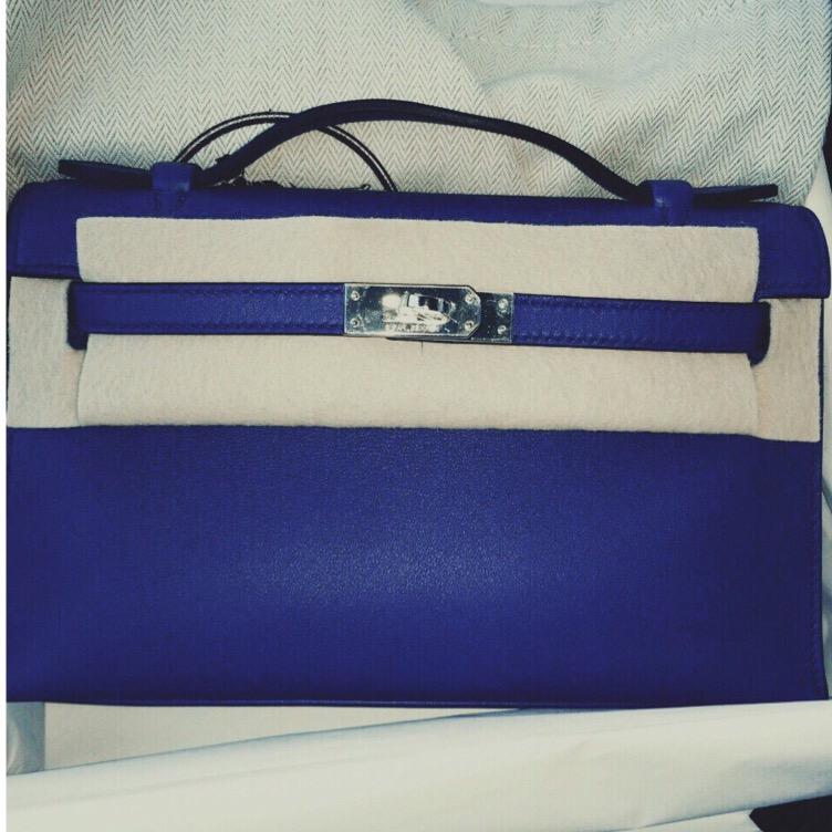 hermes bag price range - Brand new Kelly pochette Blue Electric swift phw SOLD | Ruelamode