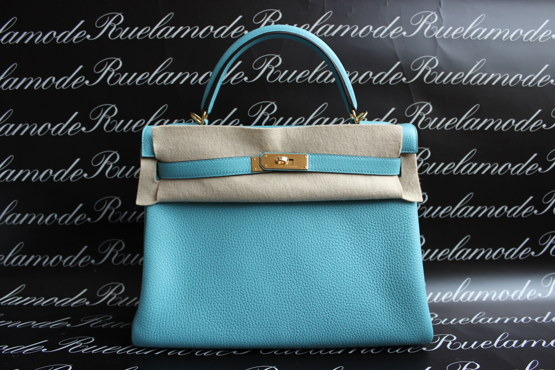 the kelly purse - hermes azap mint green wallet