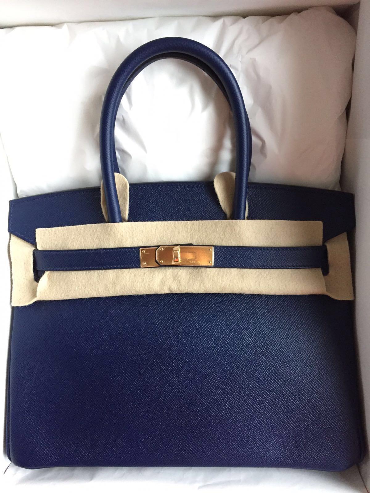 hermes 35cm birkin with gold hardware in epsom red satchel