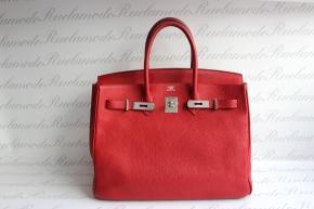 Birkin 35 Rouge Casaque Clemence PHW