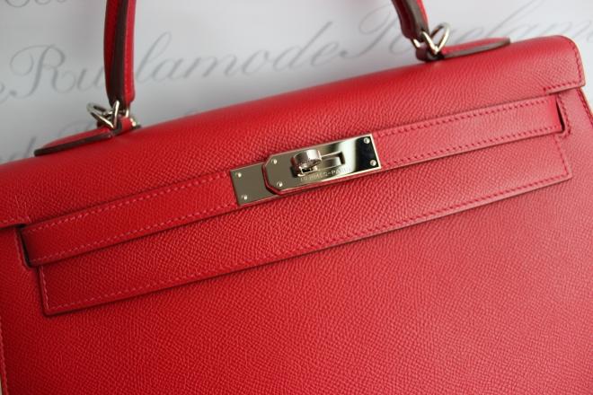 Hermes k32 Rouge casaque epsom