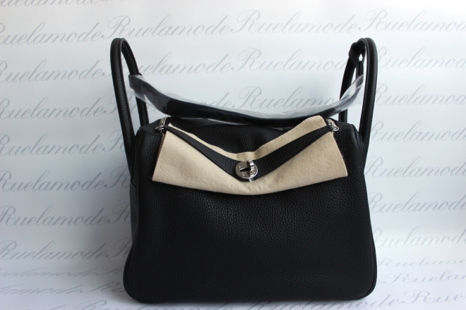 Hermes Lindy 30 Black Clemence PHW