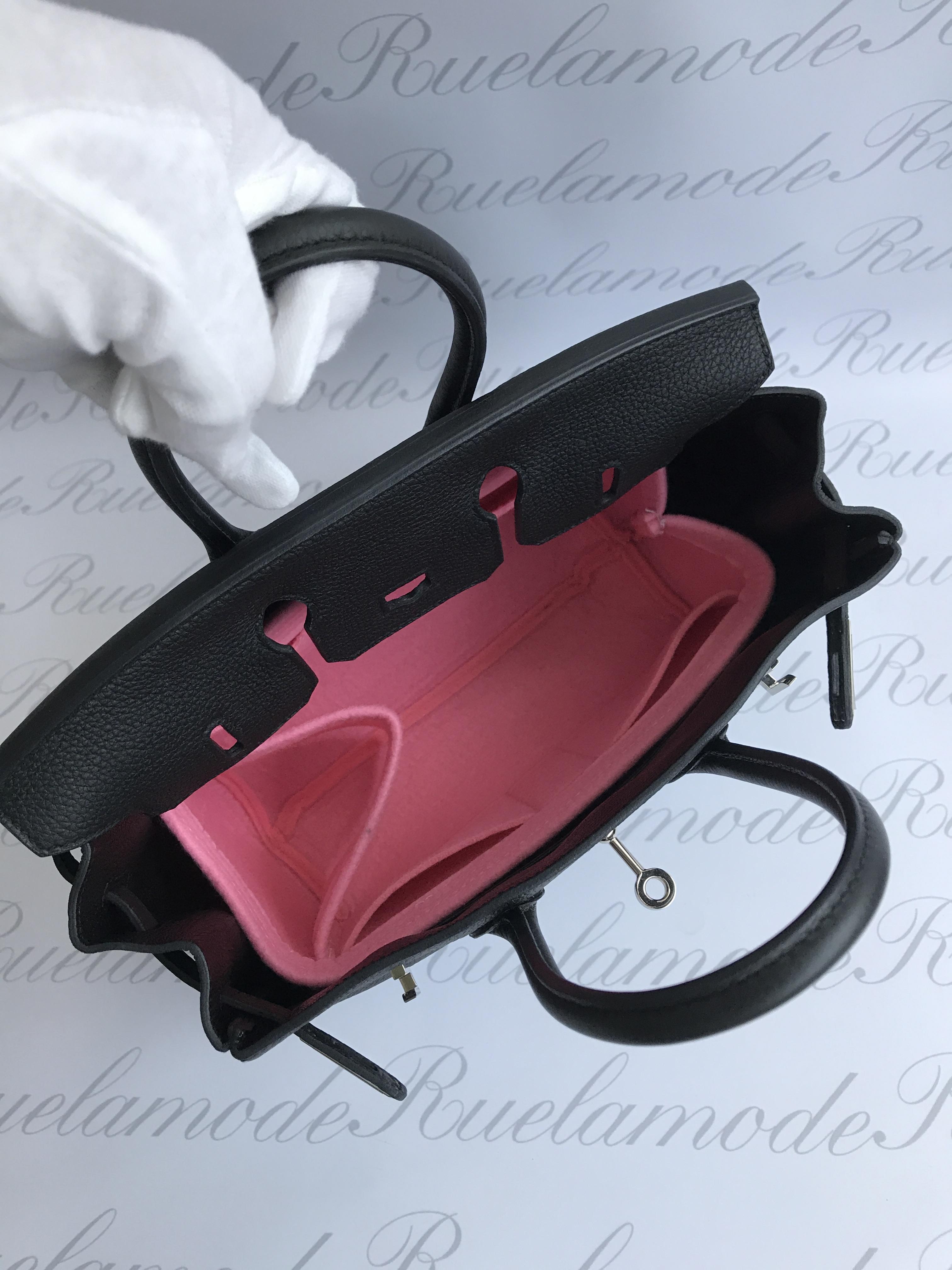 Birkin bag 25 Pink felt Insert.JPG